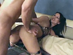 The army chick in panties analed