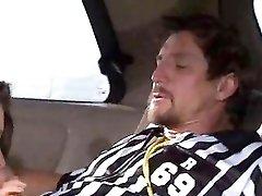 Slutty soccer mom fucked in minivan