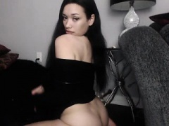 Brunette On Webcam Showing Off Her Ass