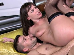 dana dearmond double anal fucked while sucking the cock