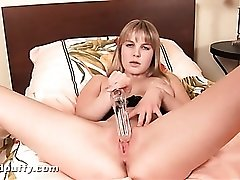Speculum and electric toothbrush for her pussy