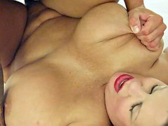 BBW with short hair gets her ass fucked hard
