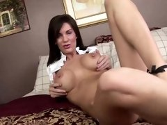 Playing with some sex toys and having an orgasm