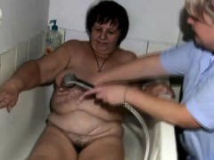 Fat granny gets treated by the nurse