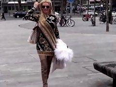 Best Mom Flashing in Thighboots See pt2 at goddessheelsonlin