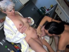 Babe Uses Her Strapon On A Granny