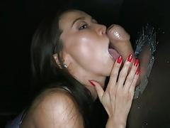 Marvelous playgirl gives a blowjob experience