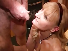 gangbang and many facials