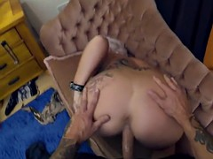 busty inked milf rides officer cock analy pov