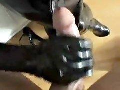 amateur latex footjob and blowjob