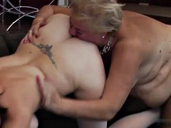 old and young lesbian licking ass