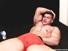 Thrusting his cock and balls deep and hard