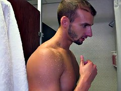 attractive gay with a tattoo giving a steamy blowjob before getting pounded doggystyle