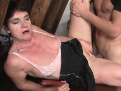 Horny girlfriends mom seduces son inlaw