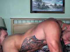 muscled hunk gets to bang that tight asshole with his cock