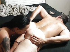 Female licks male ass (00757)