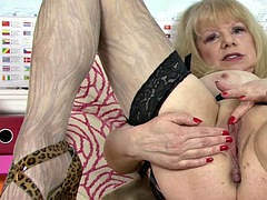 British BBW Granny shows All