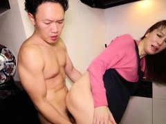 Japanese housewife newhalf assfucked standing