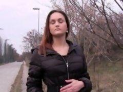 Busty Czech amateur banged outdoors