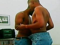 Black gays enjoy bareback hard