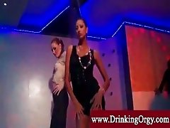 Eurobabes get their crotches pounded
