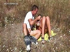 Horny MILF gets fucked hard outdoor part5