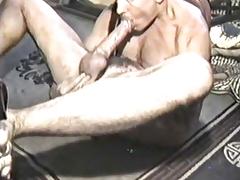 Vintage edger, self sucker, cock worship, masturbation.