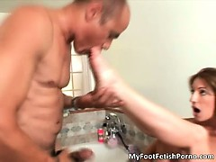Nasty brunette slut with hot body part4