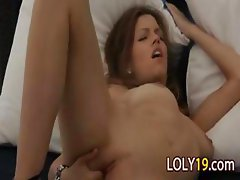 shameless brunette has great orgasm